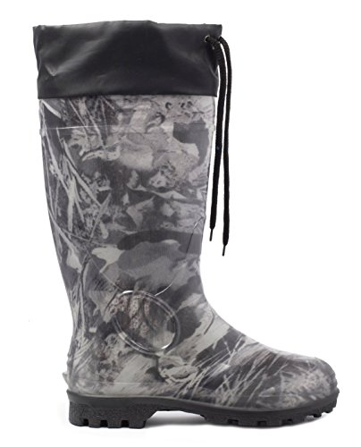 """94b4a0c1164 7) Alisa Hunting Line Men s 16"""" Insulated Hunting Camo Waterproof Rubber  Boots"""