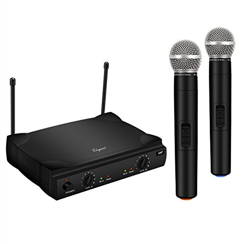 ELEGIANT Dual Wireless Microphone System Professional Home KTV Set