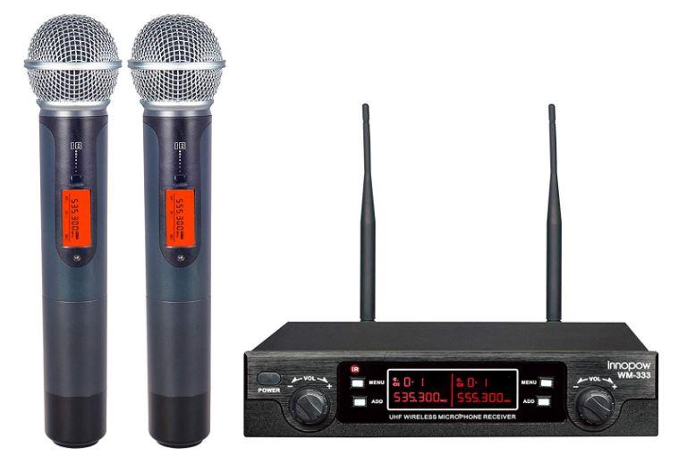 Innopow 80-Channel Dual UHF Wireless Microphone