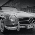 black-and-white-car-mercedes-oldtimer-105598